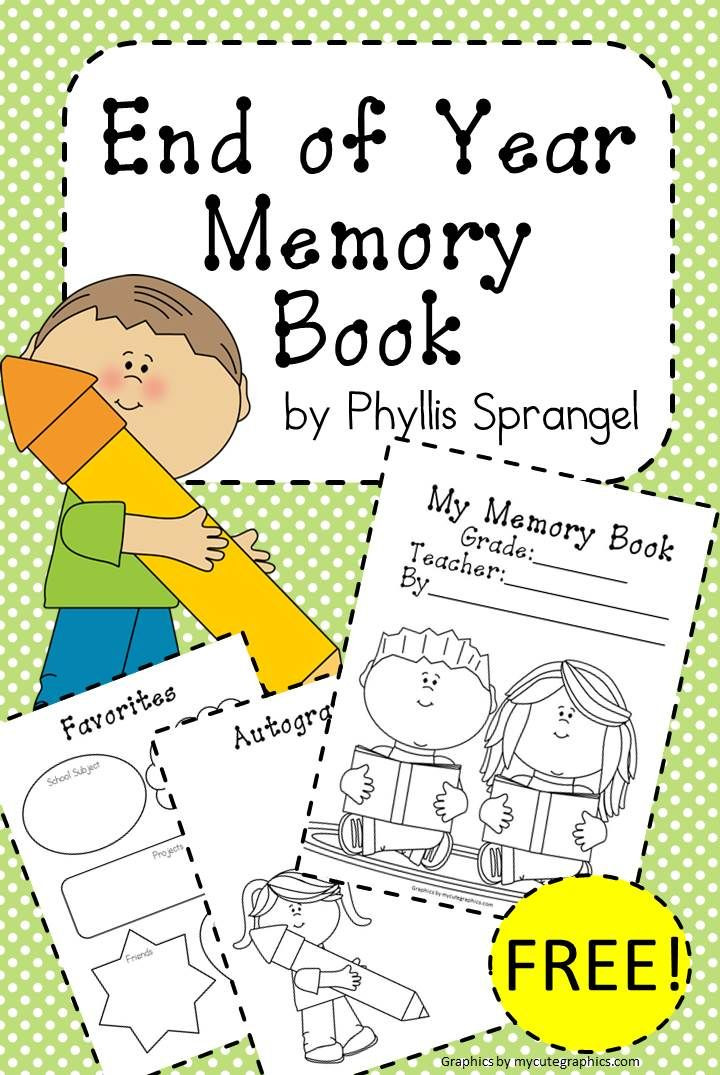 End Of The Year Crafts For Preschoolers  Memory Books on Pinterest