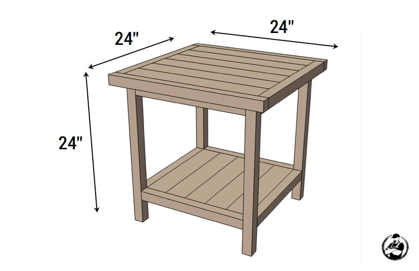 Best ideas about End Table Plans DIY . Save or Pin Simple Square Side Table FREE DIY Plans  Rogue Engineer Now.
