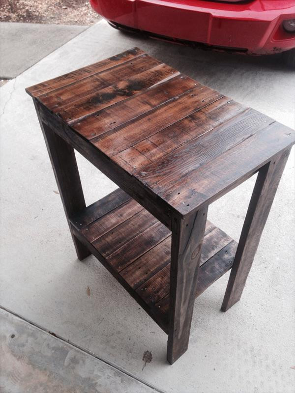 Best ideas about End Table Plans DIY . Save or Pin Pallet End Table – Entryway Table Now.