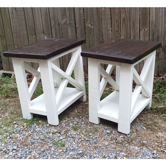 Best ideas about End Table Plans DIY . Save or Pin Smaller version of our rustic X end tables Now.
