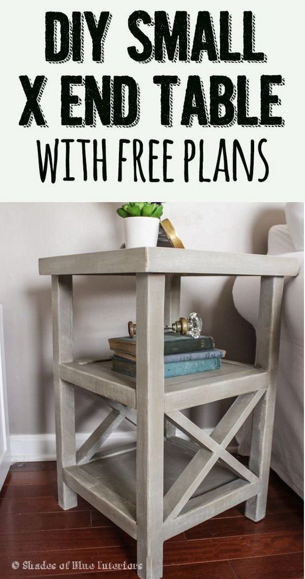 Best ideas about End Table Plans DIY . Save or Pin 25 DIY Side Table Ideas With Lots of Tutorials 2017 Now.