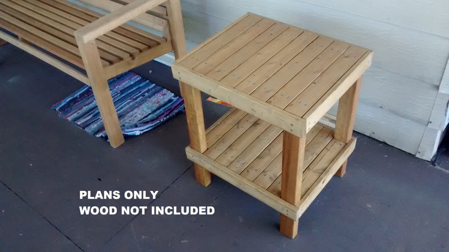 Best ideas about End Table Plans DIY . Save or Pin DIY Patio End Table PLANS Outdoor Garden Furniture Now.