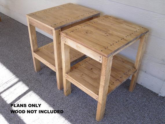 Best ideas about End Table Plans DIY . Save or Pin DIY PLANS to make BR End Table Set Indoor Outdoor Now.