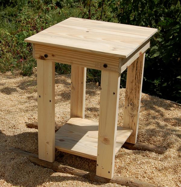 Best ideas about End Table Plans DIY . Save or Pin Sanded Pallet Side Table and Nightstand Now.