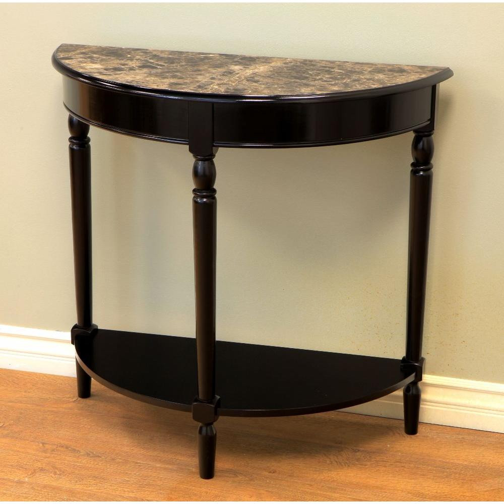 Best ideas about Entryway Console Table . Save or Pin Foyer Console Table Half — Home Design Simple Design Now.