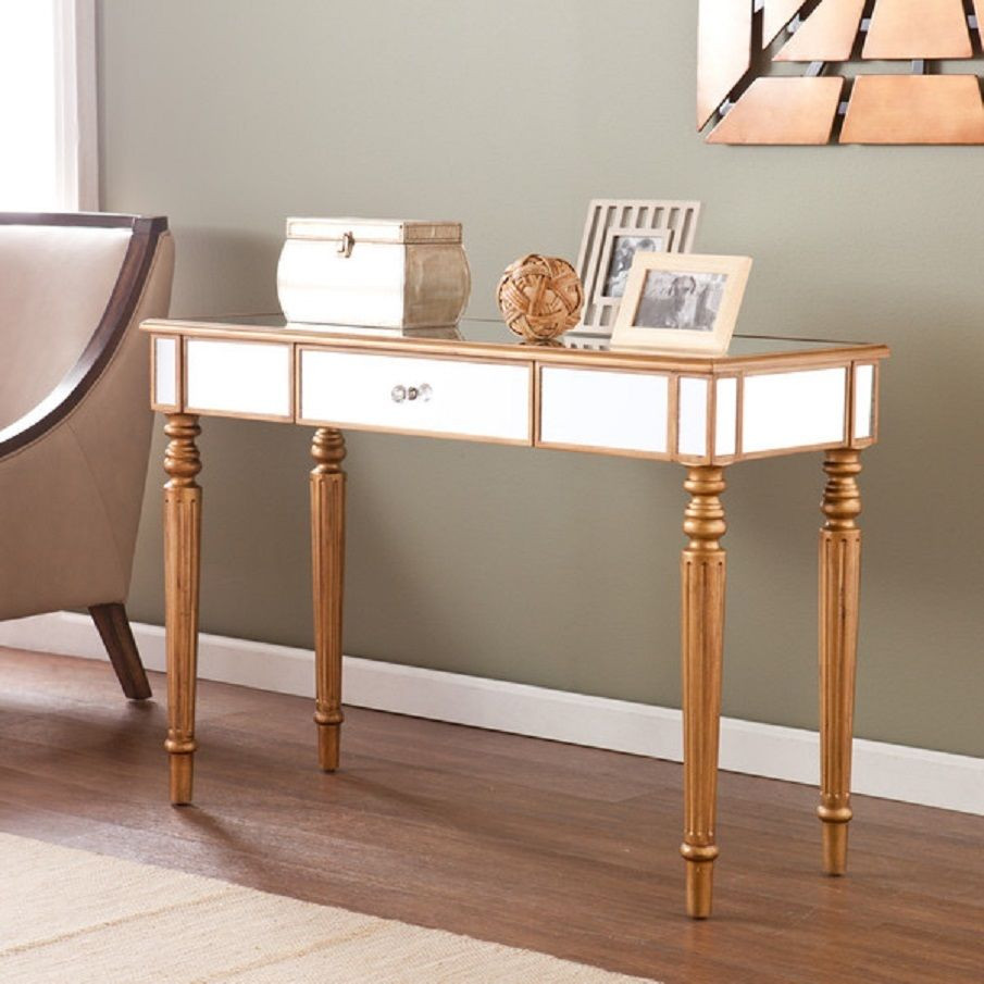 Best ideas about Entryway Console Table . Save or Pin Console Tables For Entryway Wood Modern Mirror Set Hallway Now.