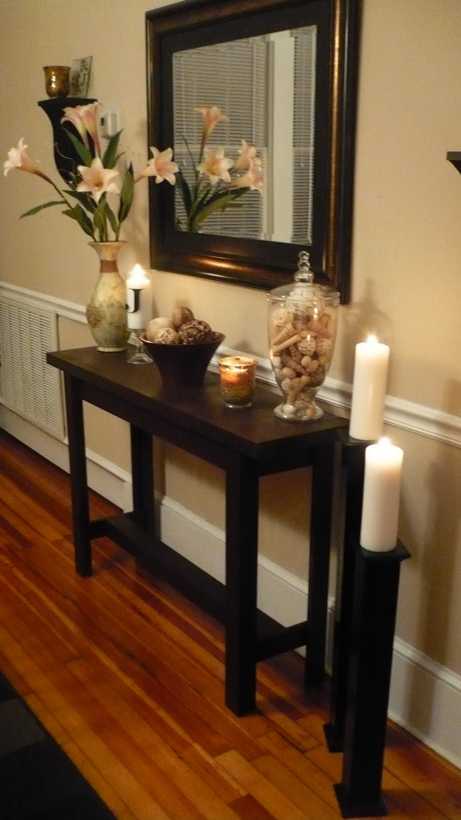 Best ideas about Entryway Console Table . Save or Pin DIY Console Table with Life as Lori Somewhat Simple Now.