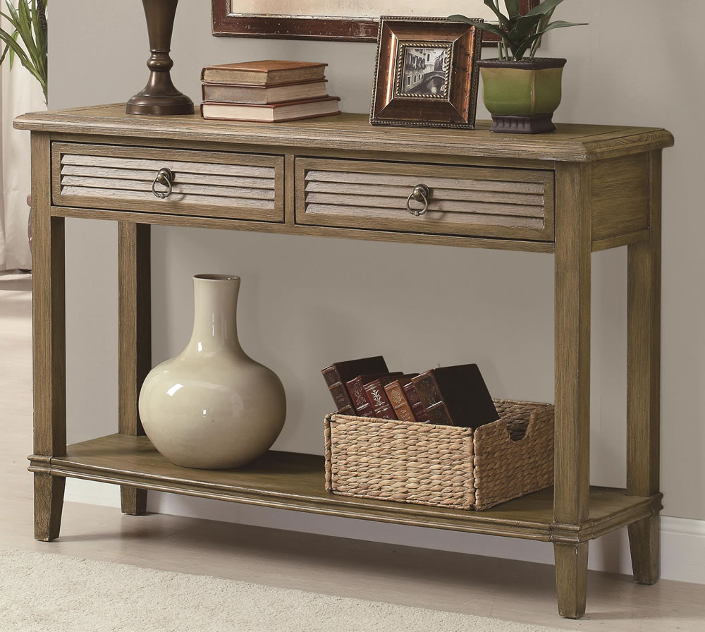 Best ideas about Entryway Console Table . Save or Pin Console Table For Entryway Design With Two Drawers Bulk Now.