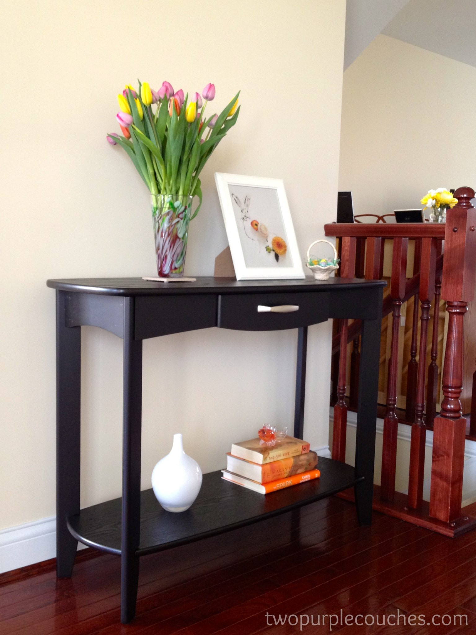 Best ideas about Entryway Console Table . Save or Pin entryway Archives two purple couches Now.