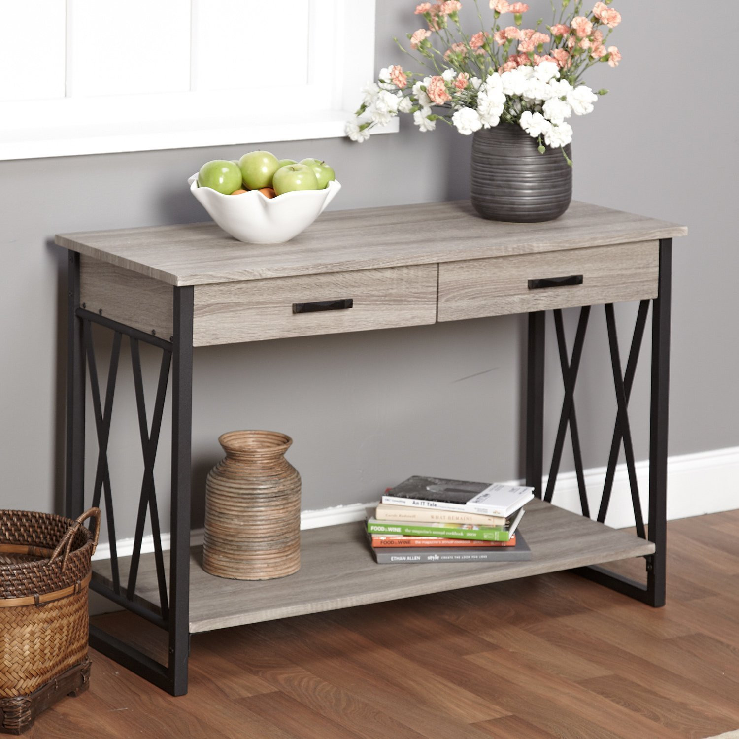 Best ideas about Entryway Console Table . Save or Pin Console Table Entryway bine — STABBEDINBACK Foyer Now.