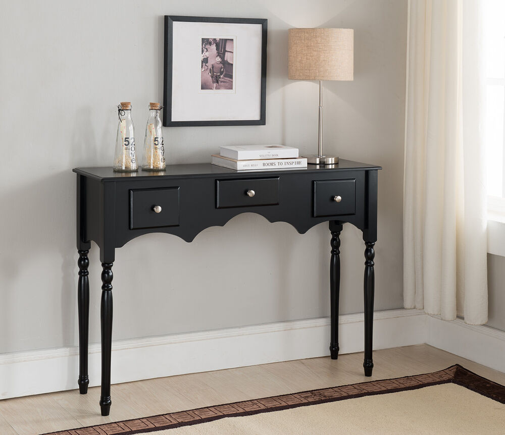 Best ideas about Entryway Console Table . Save or Pin Kings Brand Entryway Sofa Console Table with Drawers Now.