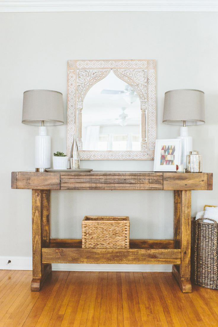 Best ideas about Entryway Console Table . Save or Pin Blank Walls 20 Things You Can Do To Jazz Them Up Now.