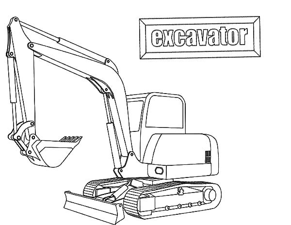 Excavator Coloring Pages  E is for Excavator Coloring Pages Download & Print