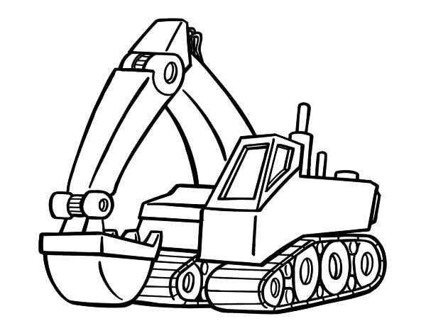 Excavator Coloring Pages  Modern Excavator Coloring Pages Download & Print line