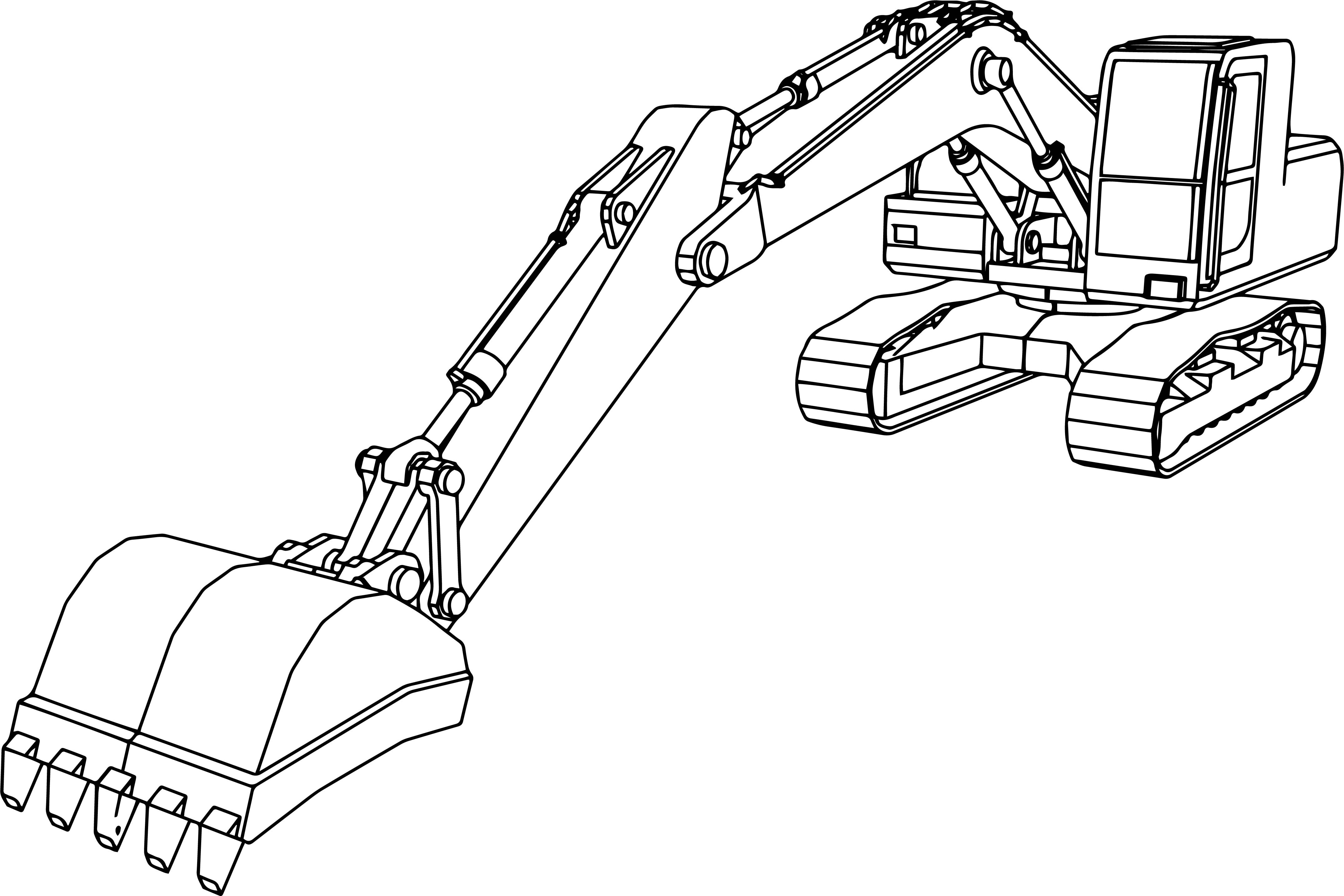 Excavator Coloring Pages  Big Excavator Coloring Page