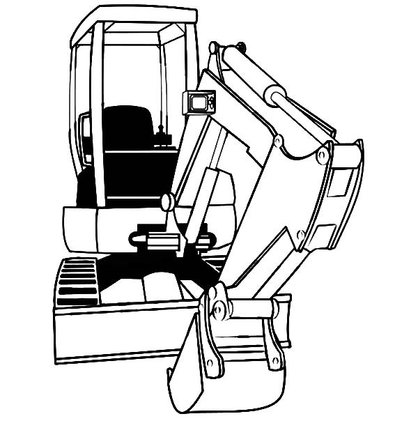Excavator Coloring Pages  Mini Excavator Coloring Pages Download & Print line