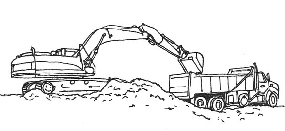 Excavator Coloring Pages  Excavator Construction Coloring Pages