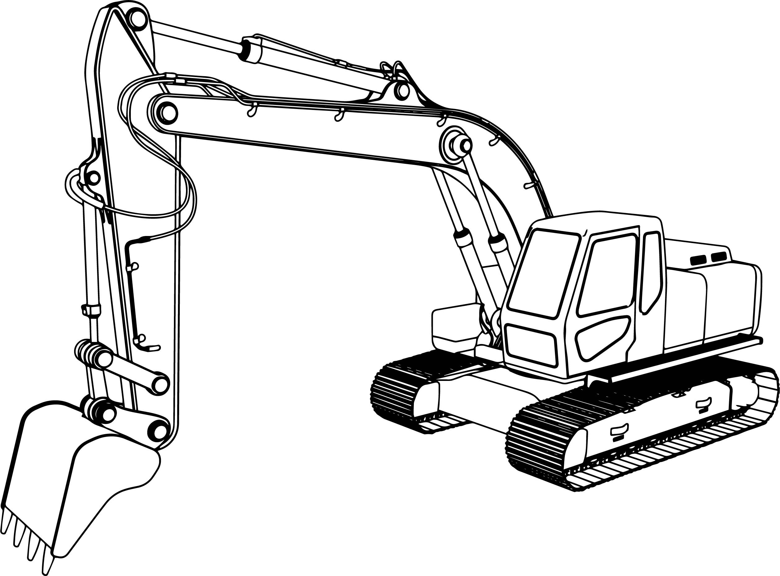 Excavator Coloring Pages  Good Excavator Coloring Pages