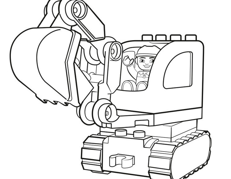 Excavator Coloring Pages  Lego Excavator Coloring Pages