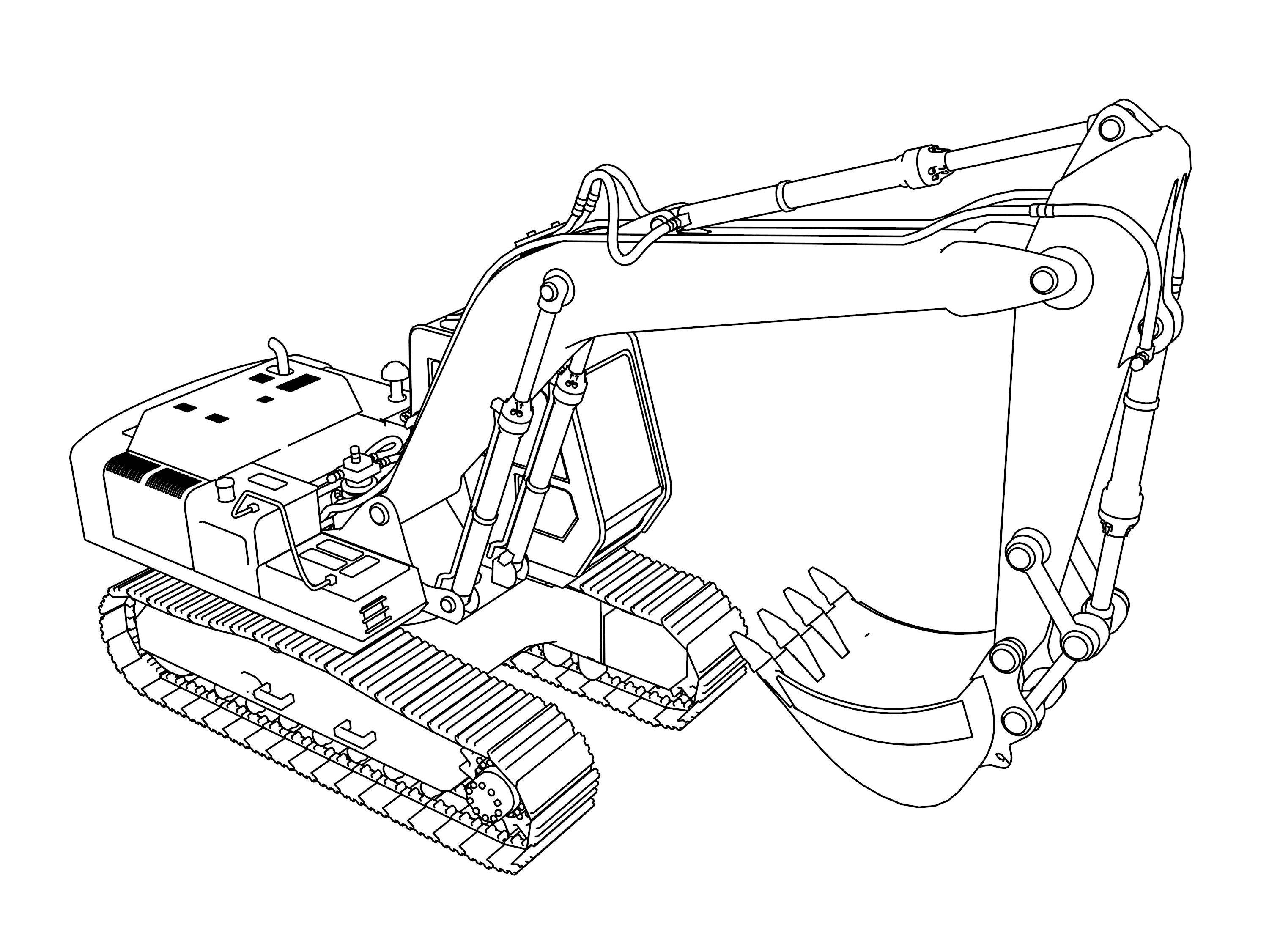 Excavator Coloring Pages  4 Wheeler Coloring Pages Wecoloringpage