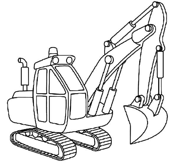 Excavator Coloring Pages  Excavator Outline Coloring Pages Download & Print line