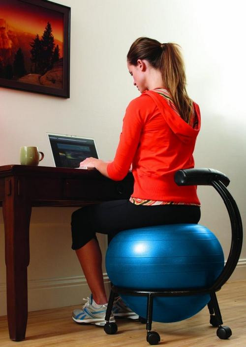 Best ideas about Exercise Ball Office Chair . Save or Pin exercise ball chair for office Now.