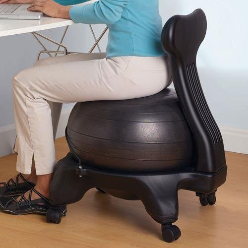 Best ideas about Exercise Ball Office Chair . Save or Pin Amazon Gaiam Balance Ball Chair Black Exercise Now.