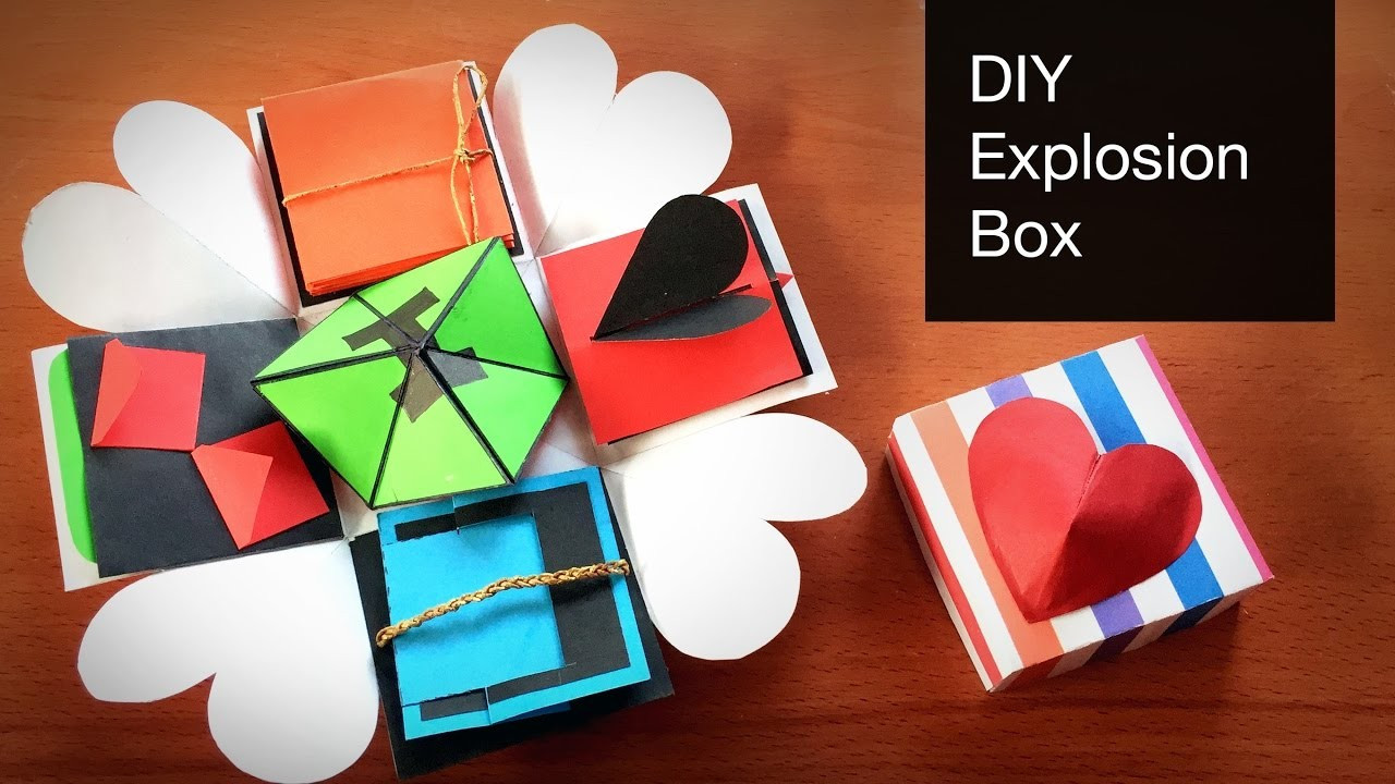 Explosion Box DIY  DIY Explosion Box Tutorial How to Make Explosion Box