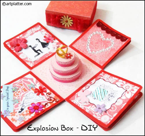 Explosion Box DIY  How to make an Explosion Box • Art Platter