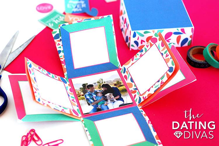 Explosion Box DIY  How to Make An Explosion Box Card The Dating Divas