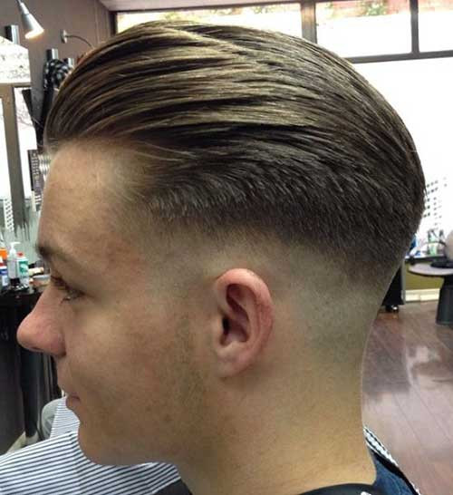Faded Undercut Hairstyle  Modern Slick Back Fade Undercut