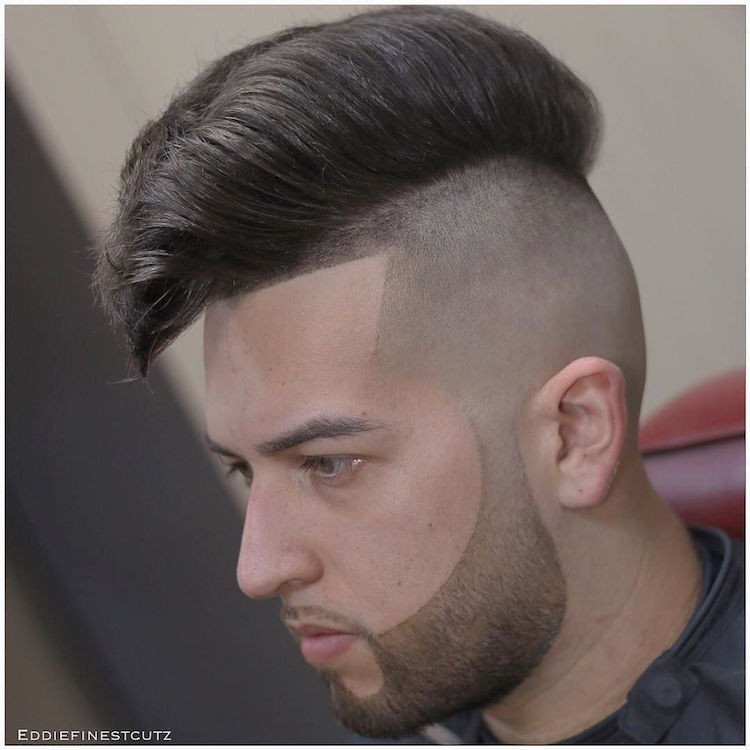 Faded Undercut Hairstyle  71 Cool Men s Hairstyles 2017