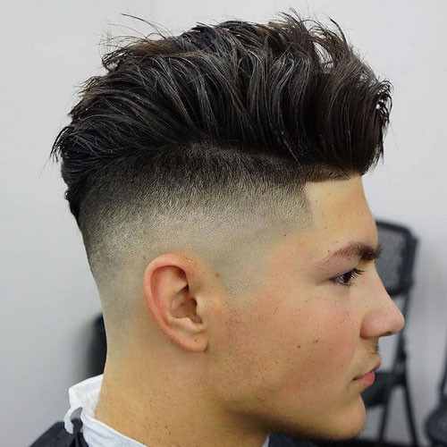 Faded Undercut Hairstyle  Undercut Fade