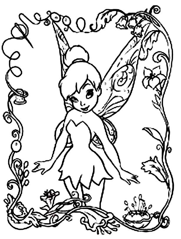 Fairy Coloring Pages For Kids  Free Printable Disney Fairies Coloring Pages For Kids
