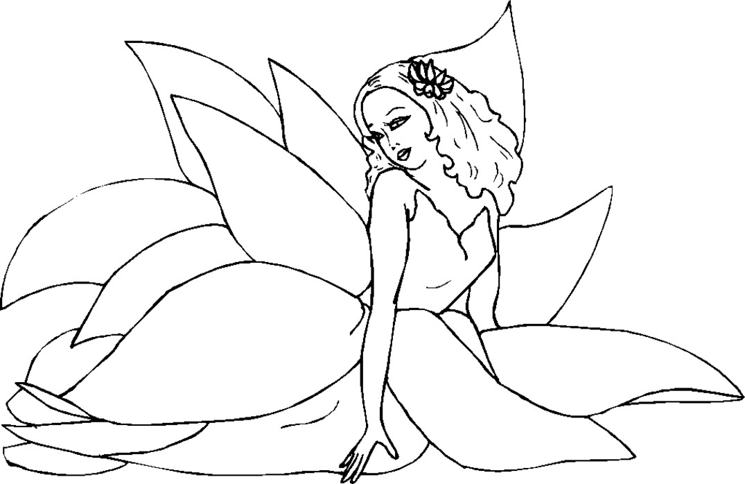 Fairy Coloring Pages For Kids  Fairy Coloring Pages For Adults Coloring Home