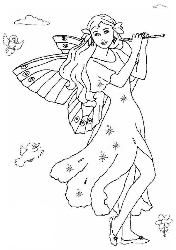 Fairy Coloring Pages For Kids  Free Printable Fairy Coloring Pages For Kids