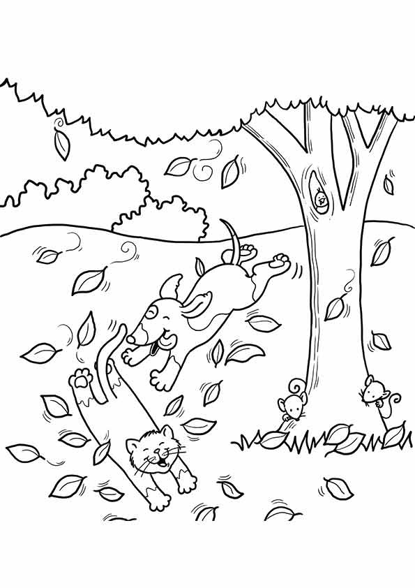 Fall Coloring Pages  Free Printable Fall Coloring Pages for Kids Best
