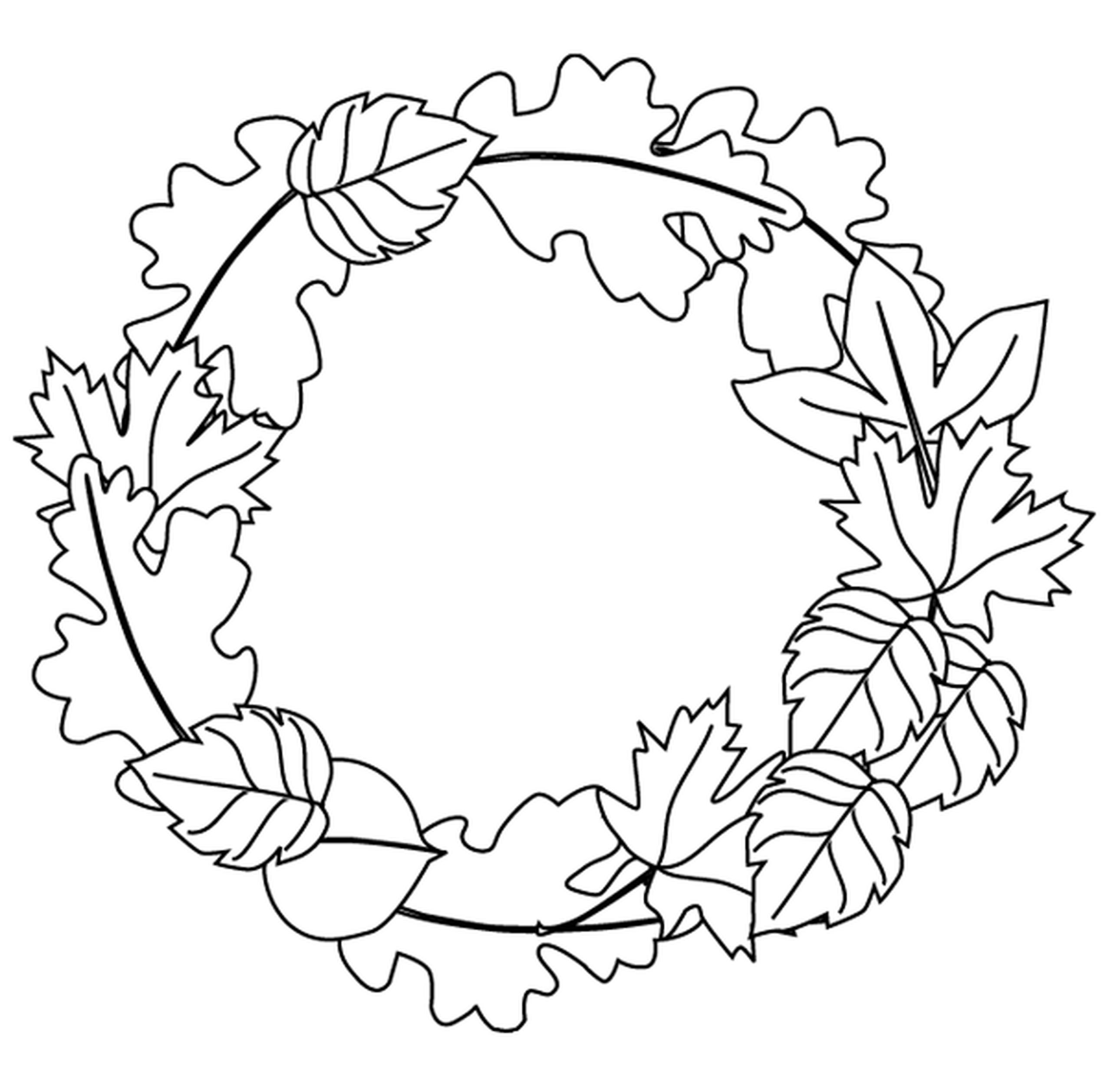 Fall Leaves Coloring Sheet  Autumn Leaves Coloring Pages Bestofcoloring