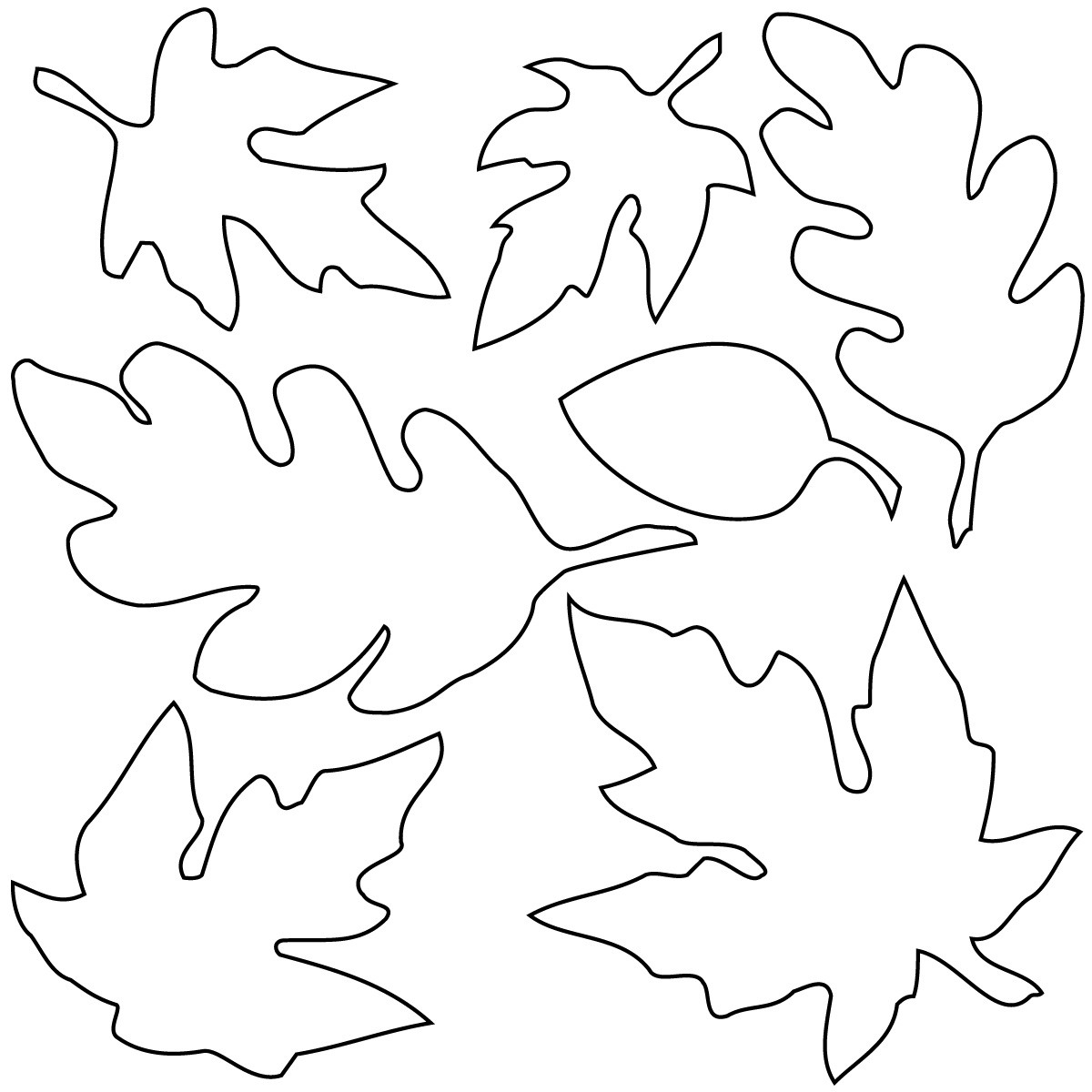 Fall Leaves Coloring Sheet  Clip Art Fall Leaves coloring page