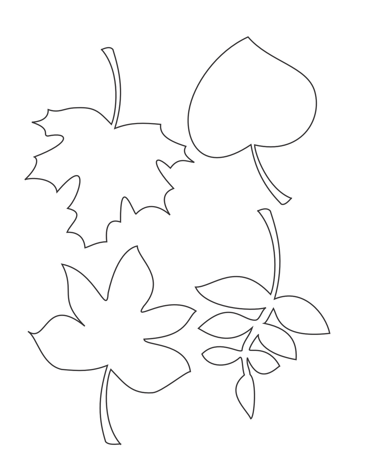 Fall Leaves Coloring Sheet  Fall Leaves Coloring Pages coloringsuite
