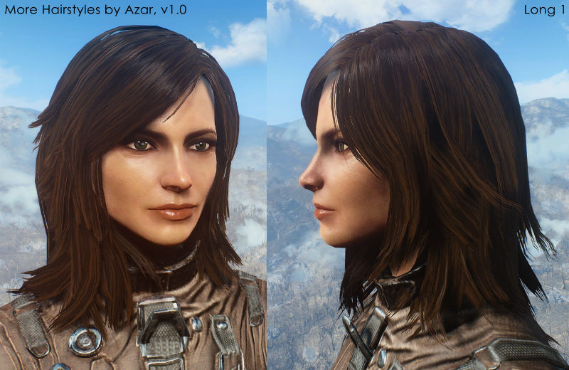 """Fallout 4 Female Hairstyles  Fallout 4 """"Прически Конский хвостик Ponytail Hairstyles"""