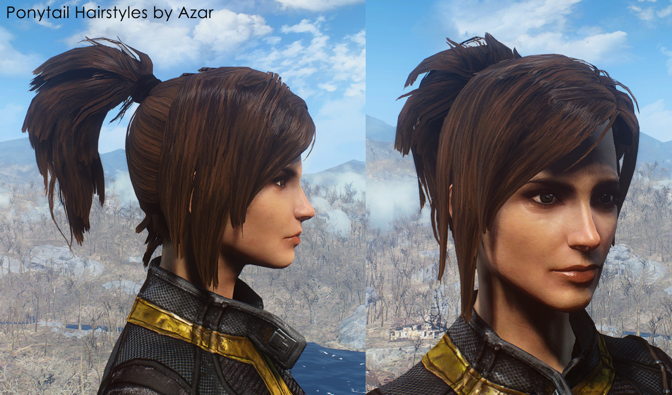 Fallout 4 Female Hairstyles  Ponytail Hairstyles by Azar FO4 Mod