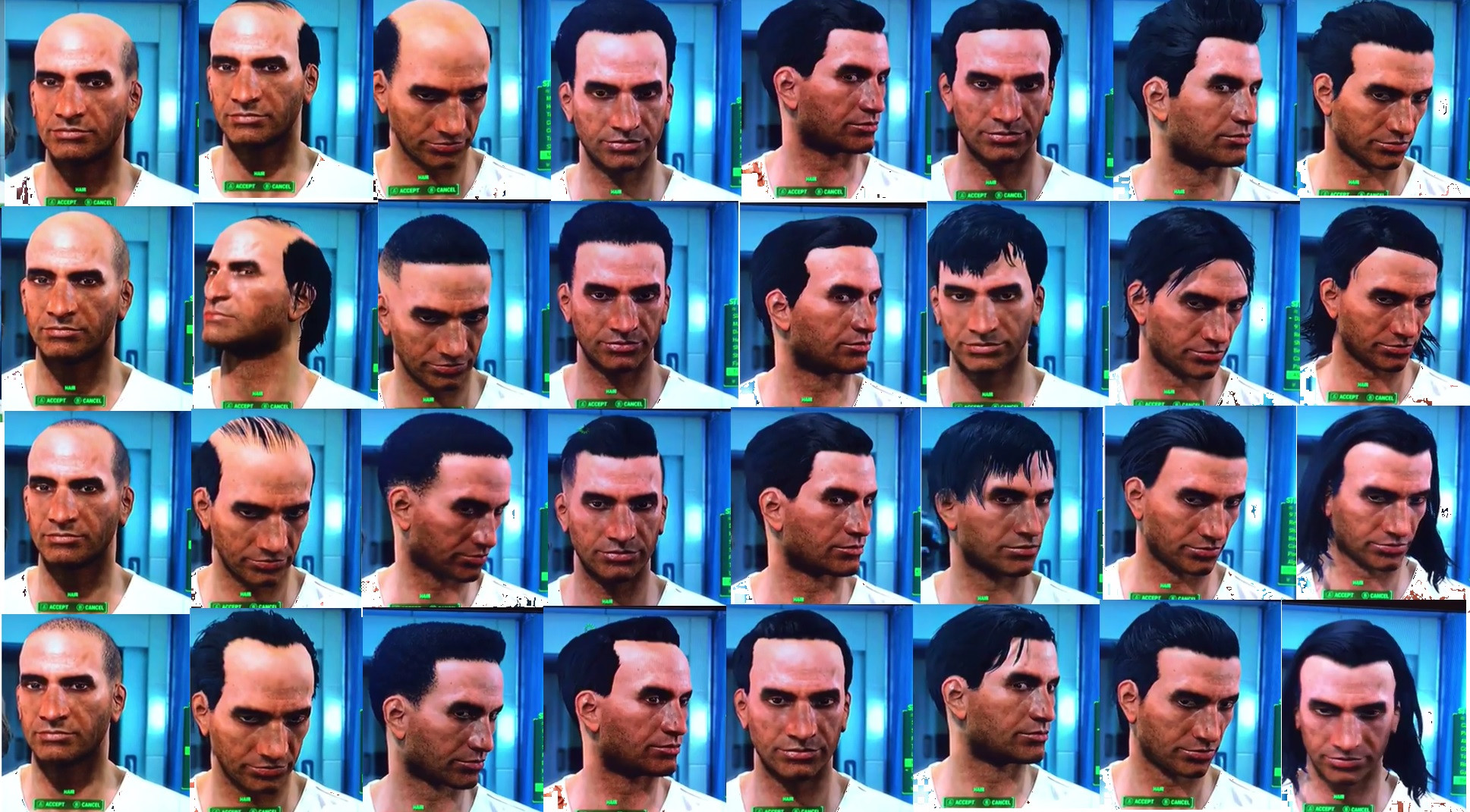 Fallout 4 Female Hairstyles  Fallout 4 List All Hair And Beard Customization