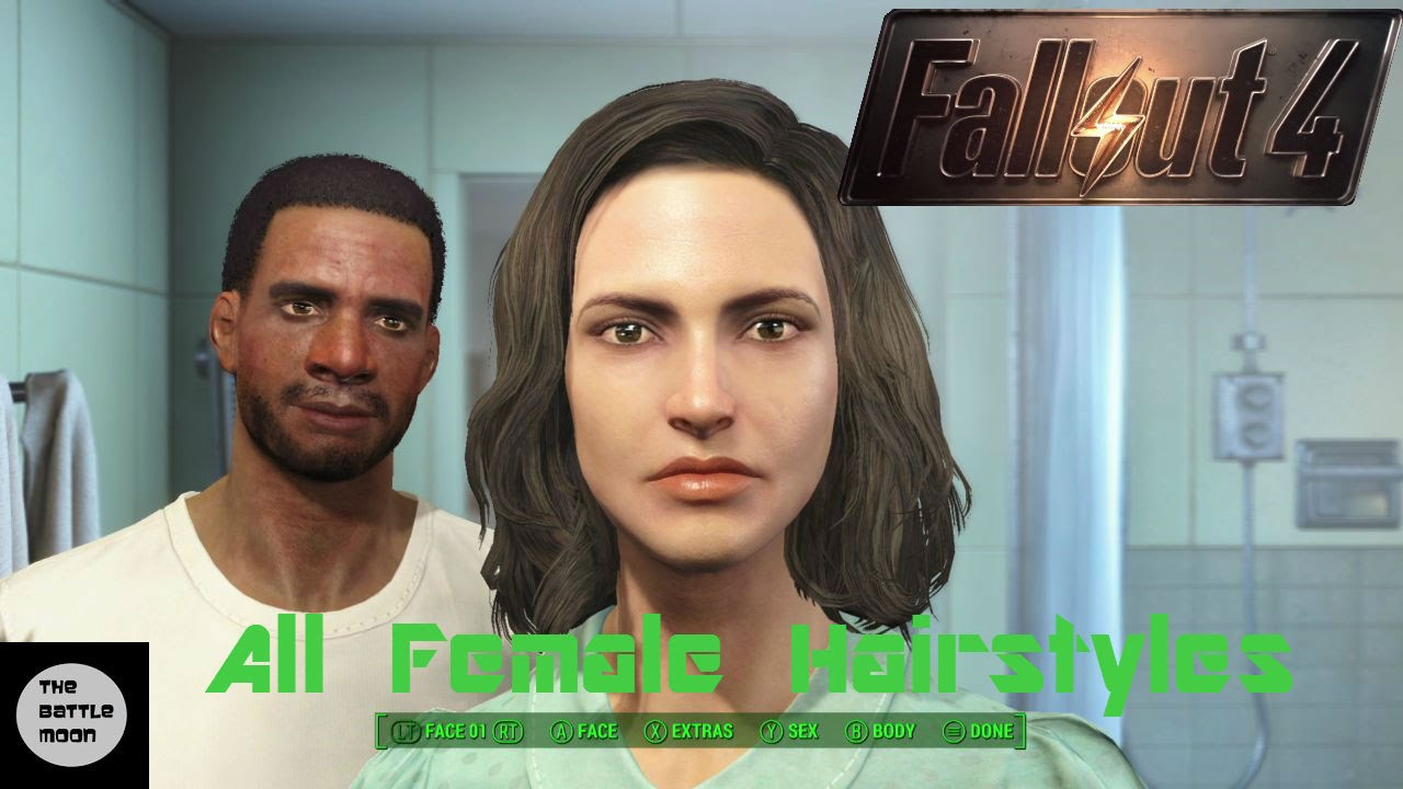 Fallout 4 Female Hairstyles List  fallout 4 hairstyles names all female hairstyles fallout 4