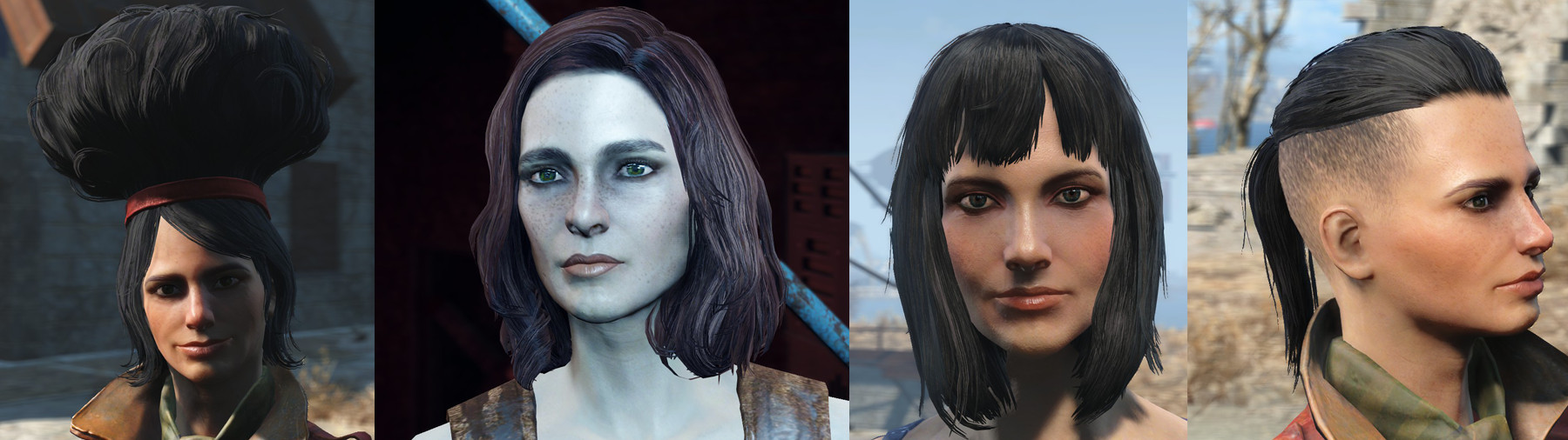 Fallout 4 Female Hairstyles List  list of fallout 4 hairstyles panion hairstyle selection