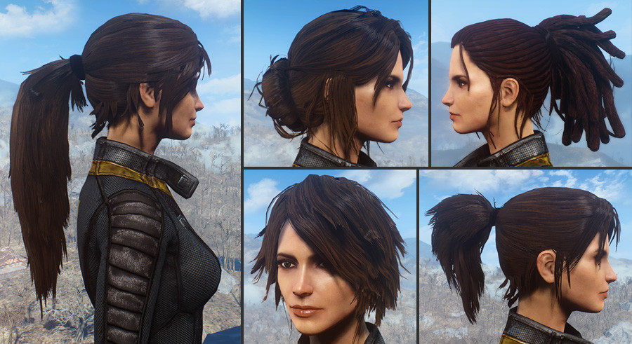 Fallout 4 Female Hairstyles List  Ponytail Hairstyles by Azar v2 5a at Fallout 4 Nexus