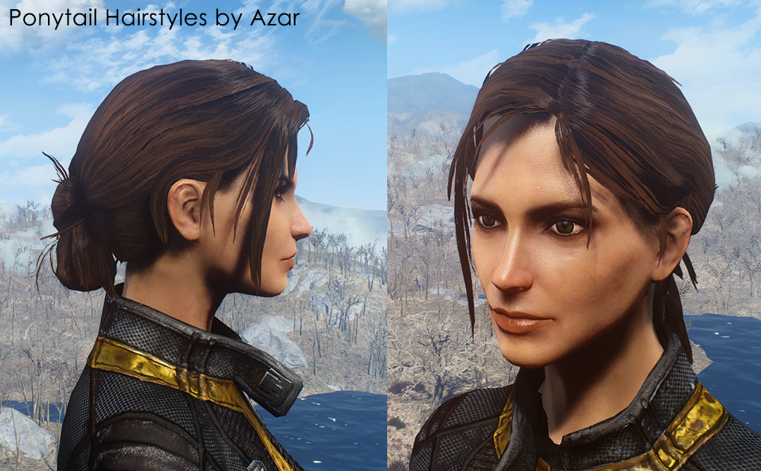 Fallout 4 Female Hairstyles List  Ponytail Hairstyles by Azar FO4 Mod