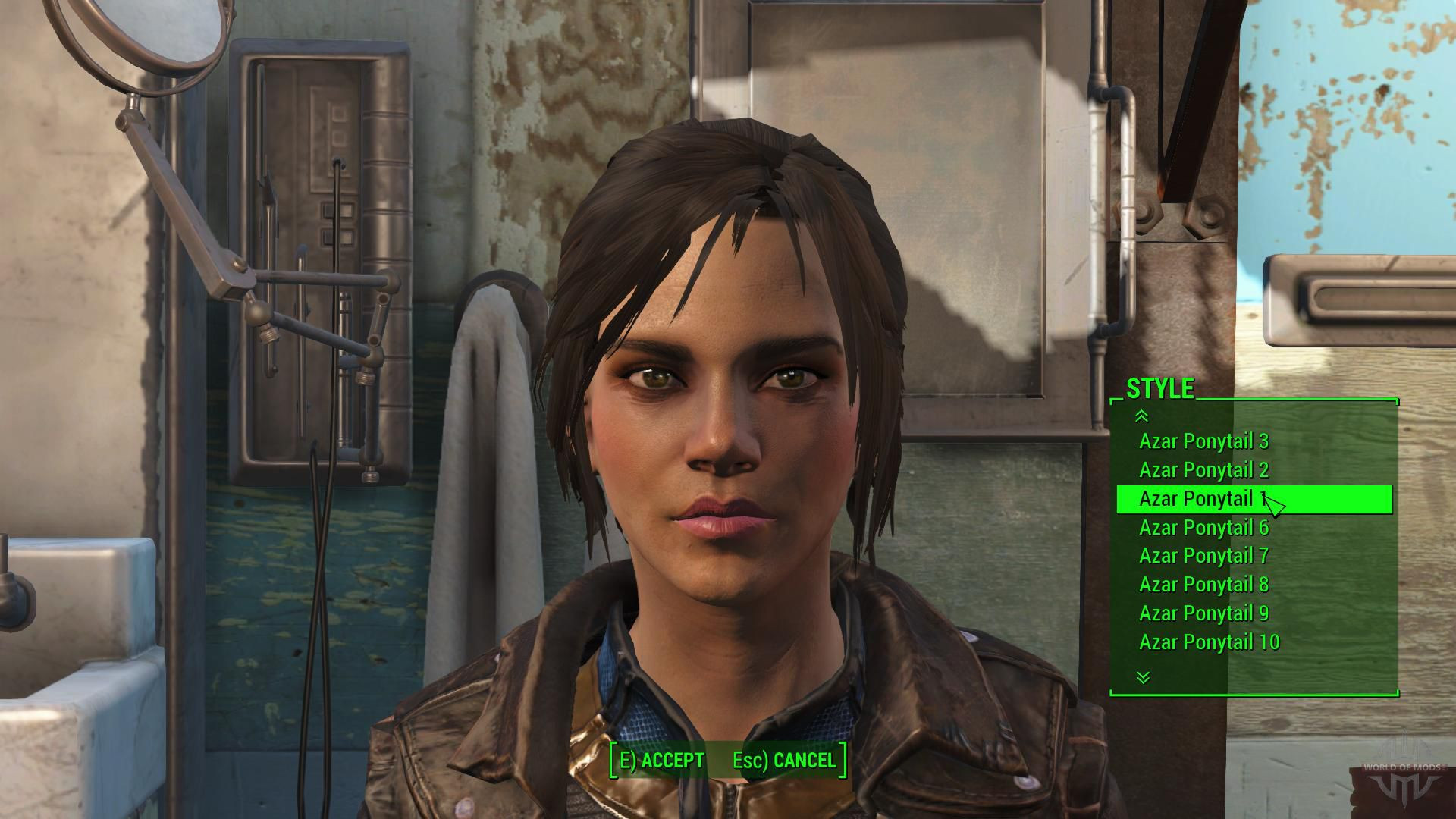 Fallout 4 Female Hairstyles  Azar Ponytail Hairstyles for Fallout 4