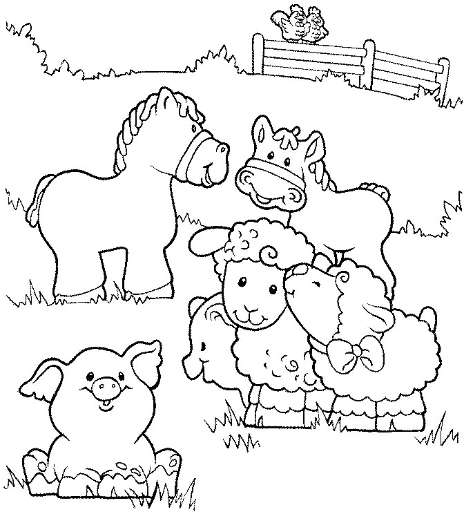 Farm Coloring Sheet  DIY Farm Crafts and Activities with 33 Farm Coloring