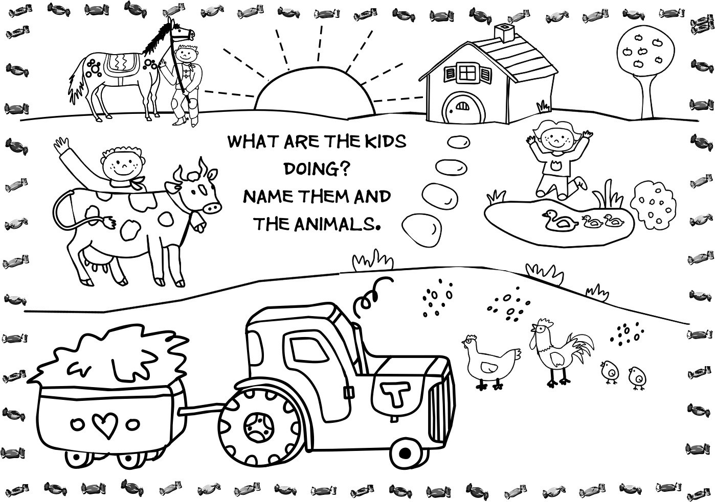 Farm Coloring Sheet  Free Printable Farm Animal Coloring Pages For Kids